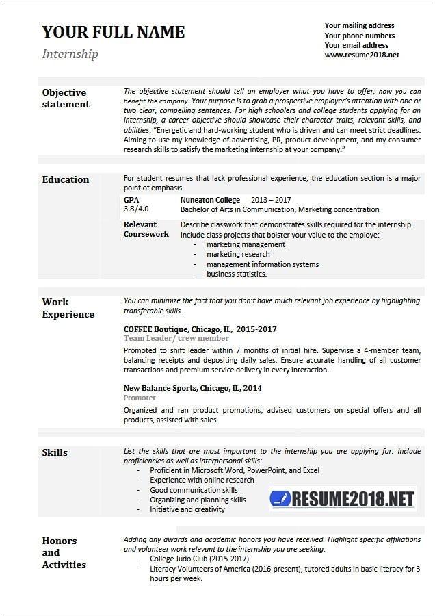 Good Resume Templates 2018 Basic Resume Samples 2018 Gentileforda Com