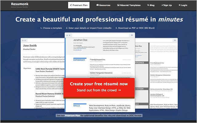 resume templates google chrome