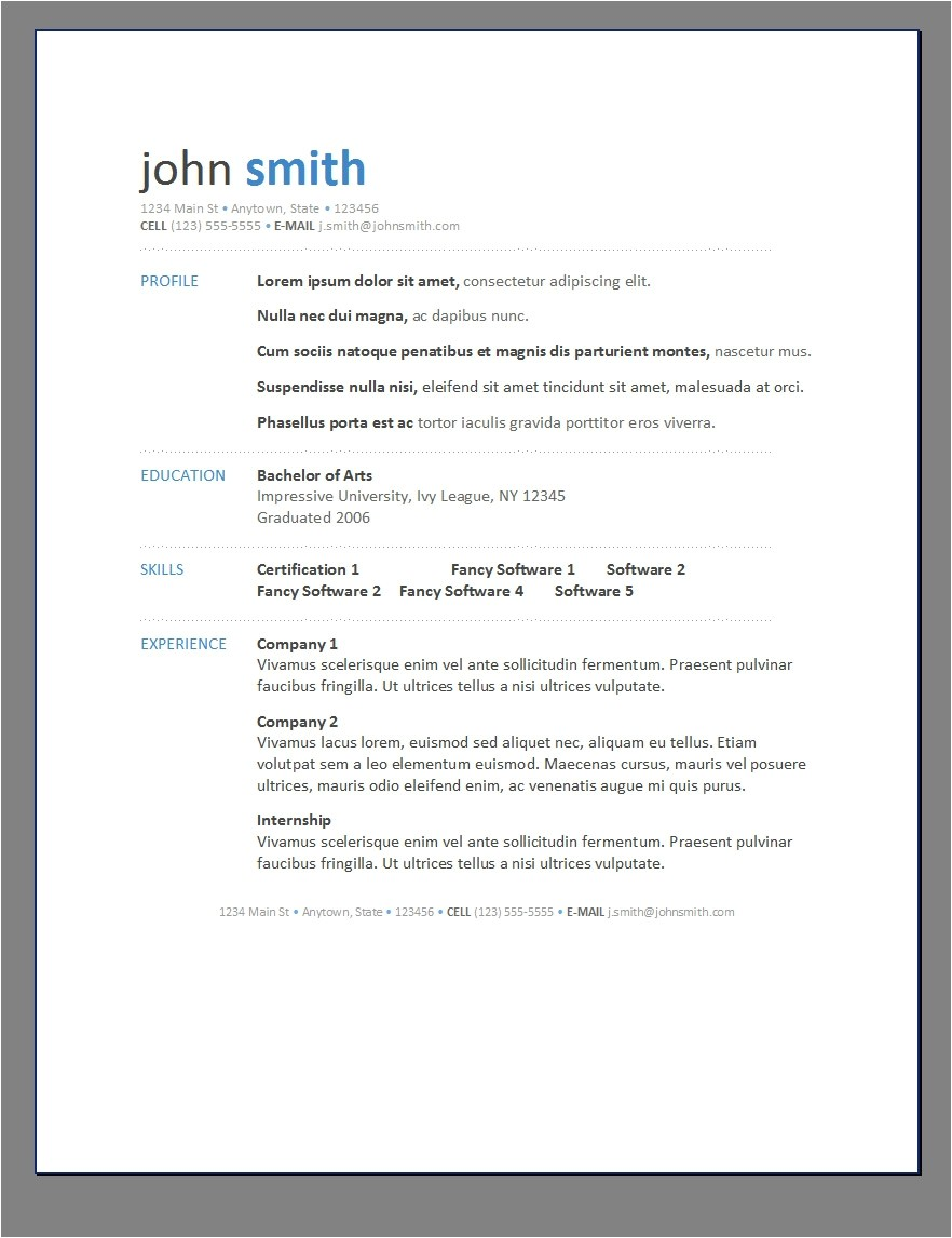 Google Free Resume Templates Resume Templates Google Resume and Cover Letter Resume