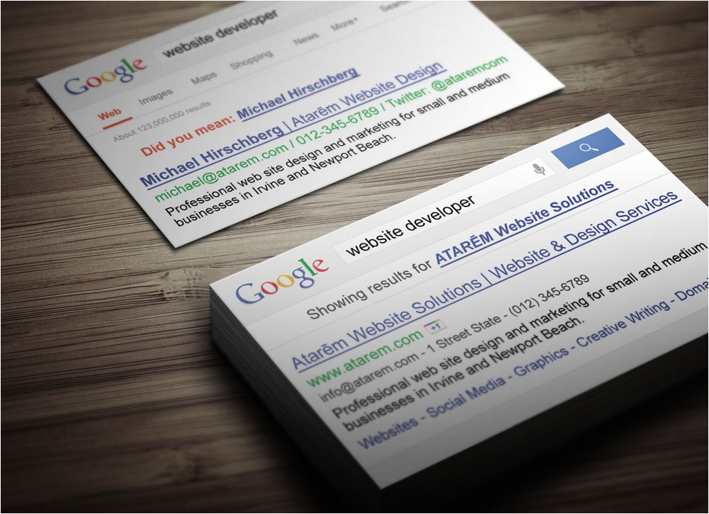 Google Search Business Card Template Google Search Business Card Magichat Design