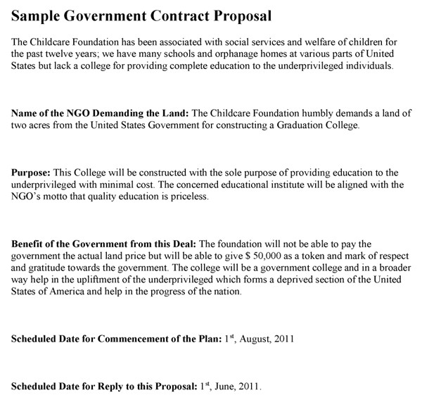 3199 government bid proposal template