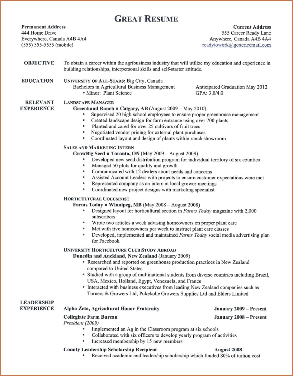 11 good resume templates