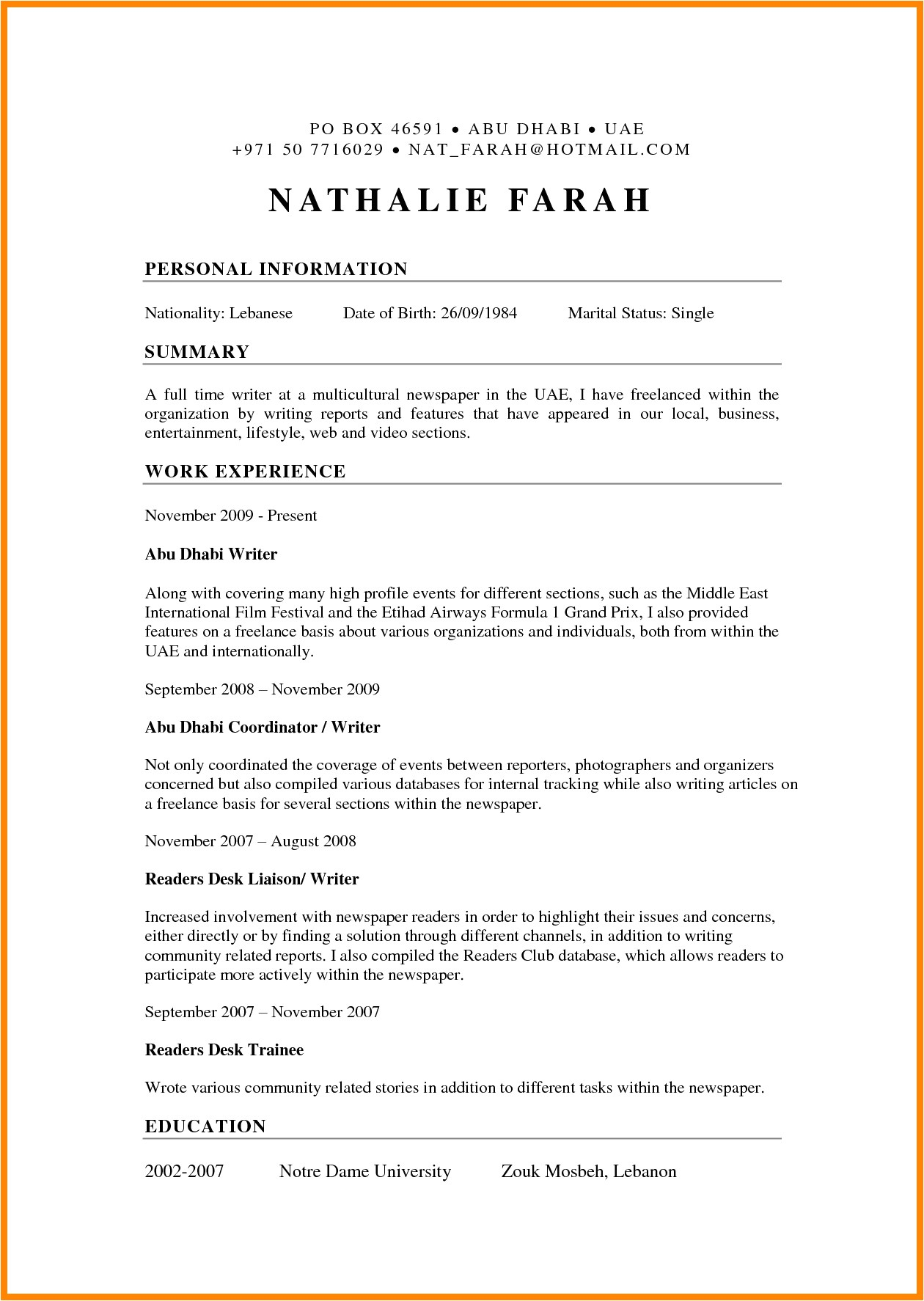 great resume samples