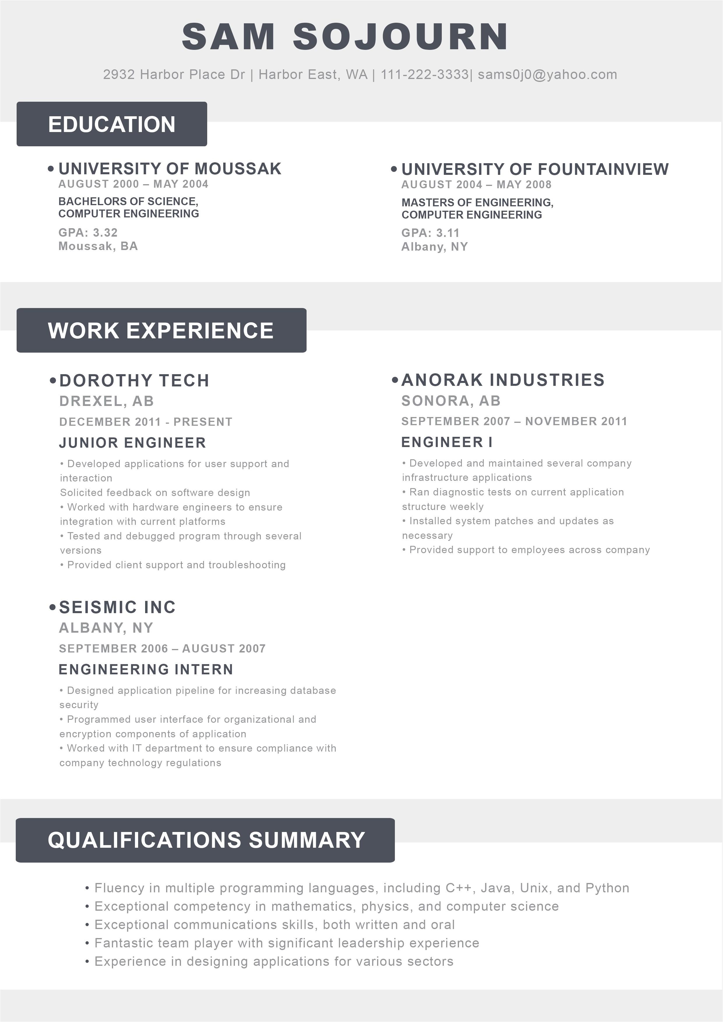 creative resume design 2018