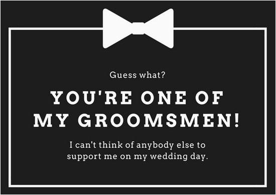 macyrxof7cy black and white wedding groomsmen card