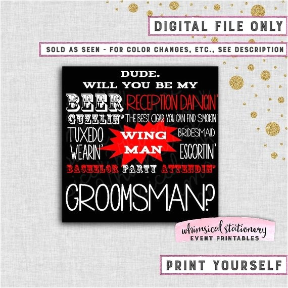 groomsman proposal cards printable file instant