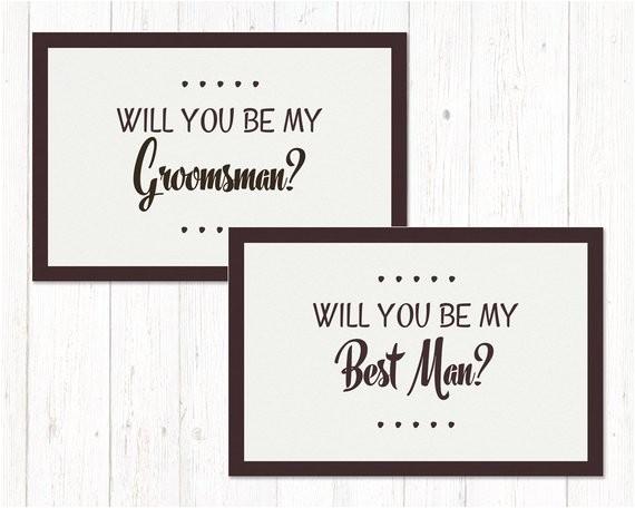 groomsman proposal will you be my