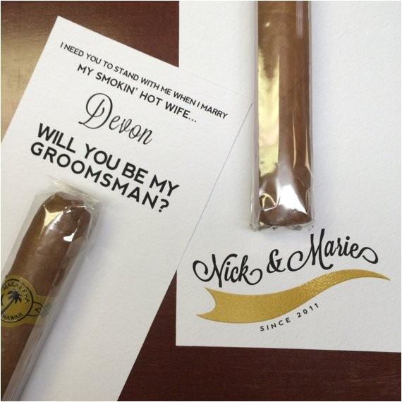 will you be my groomsman cigar custom