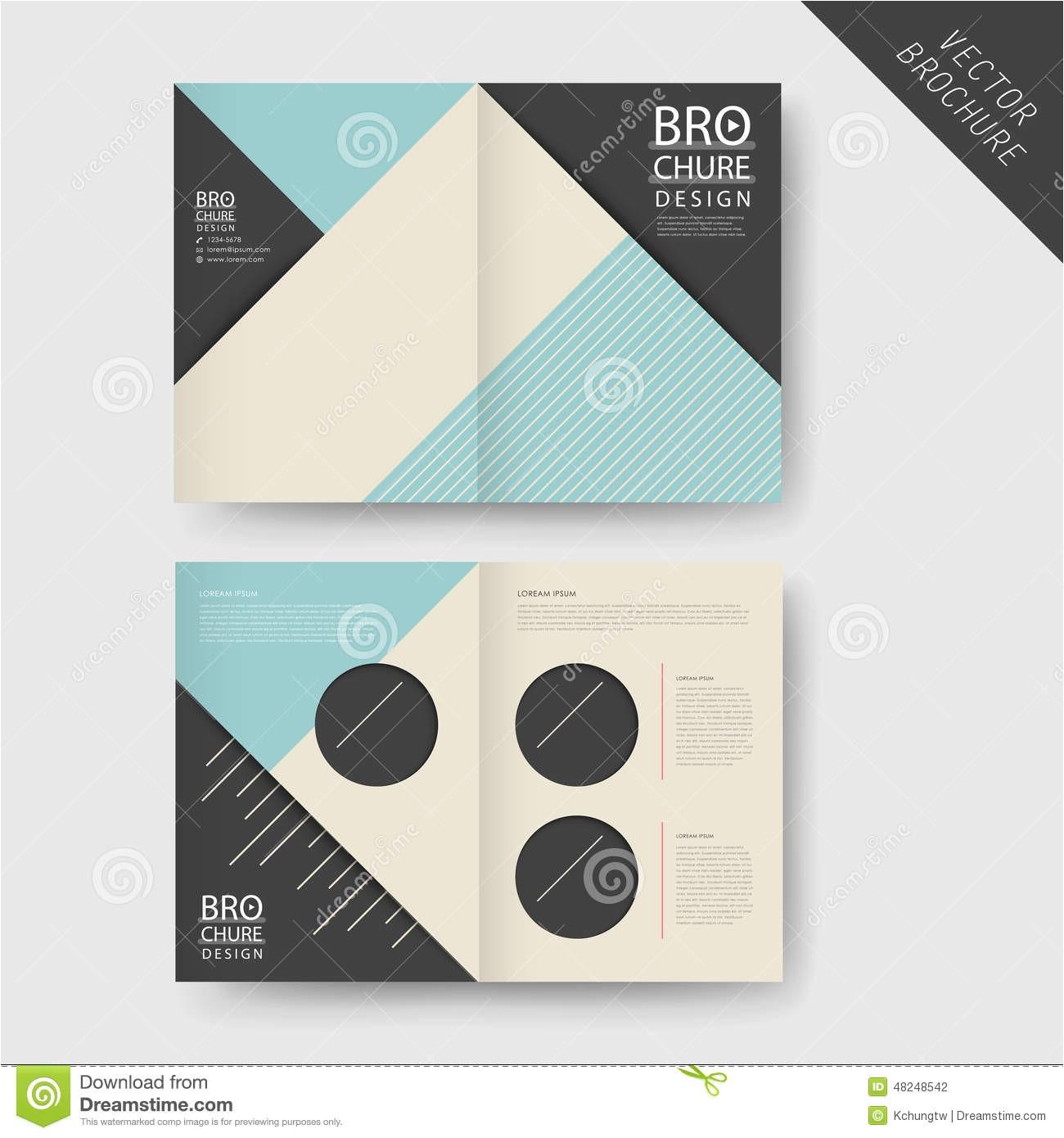 half fold brochure template word 4