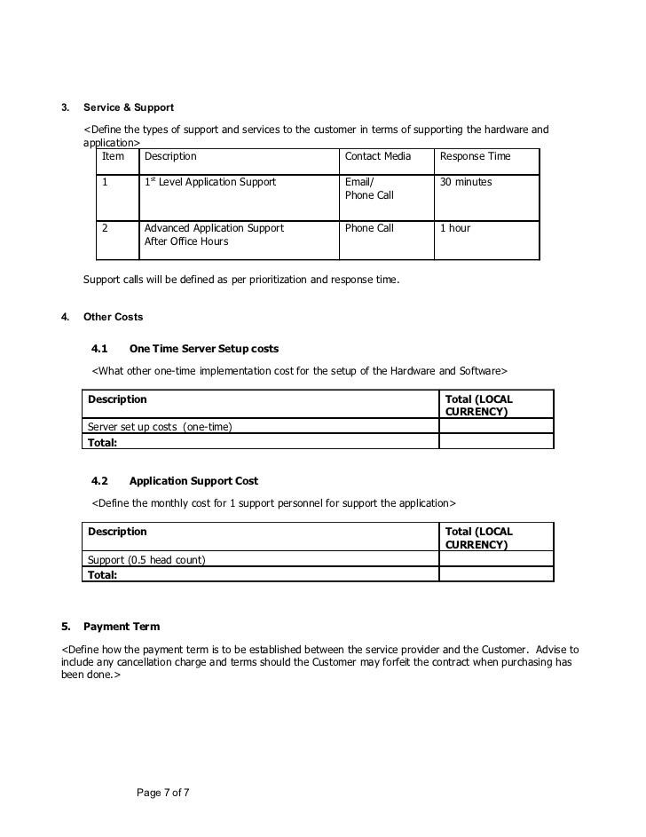 sample document on hardware software proposal