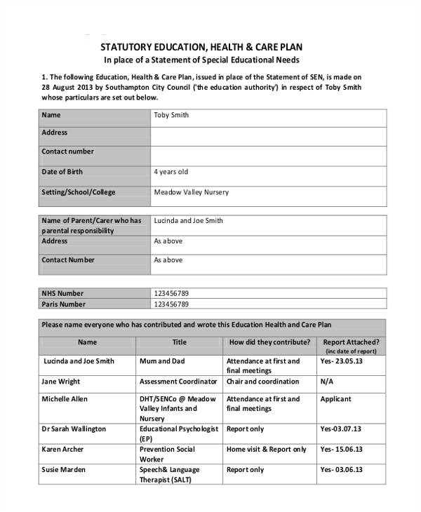 Health Care Proposal Template 9 Healthcare Plan Templates Free Sample Example Free