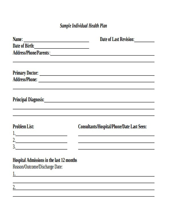 Health Care Proposal Template Health Care Plan Templates 8 Free Word Pdf format