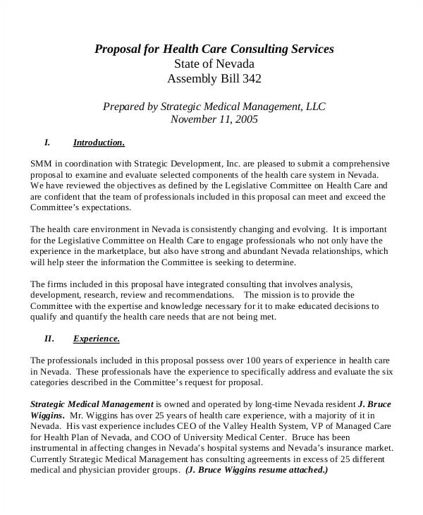 Health Care Proposal Template Medical Business Proposal Templates 8 Free Word Pdf