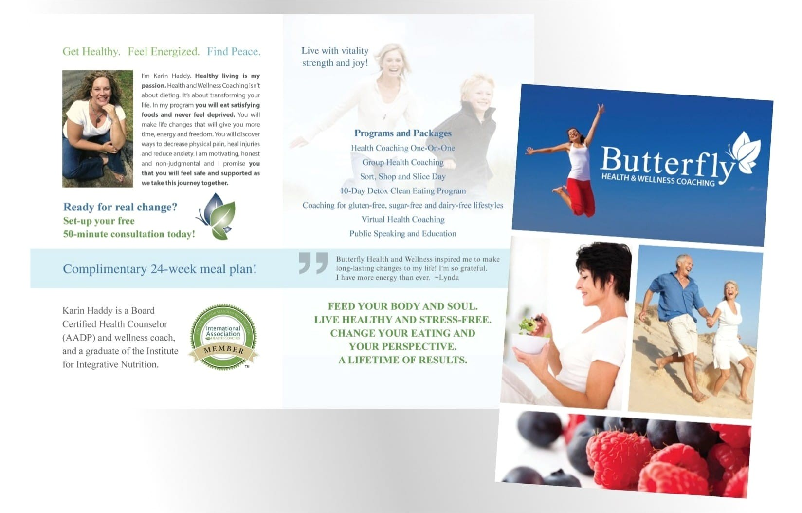 butterfly health wellness coaching rebrand rapunzel creative marketing