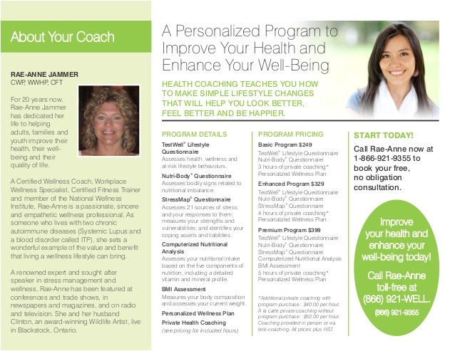 health coach brochure
