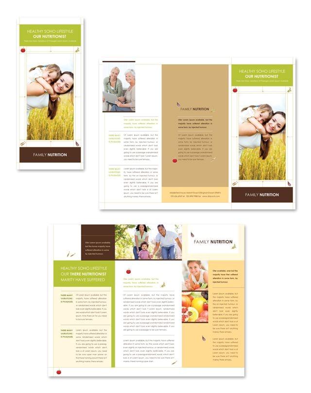 Health Coach Brochure Templates Nutritionist Tri Fold Brochure Template Impressos