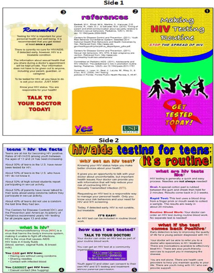 hiv aids brochure templates
