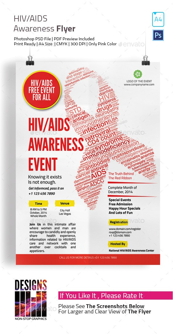 hiv aids brochure templates hiv and aids awareness flyer designsmill graphicriver template