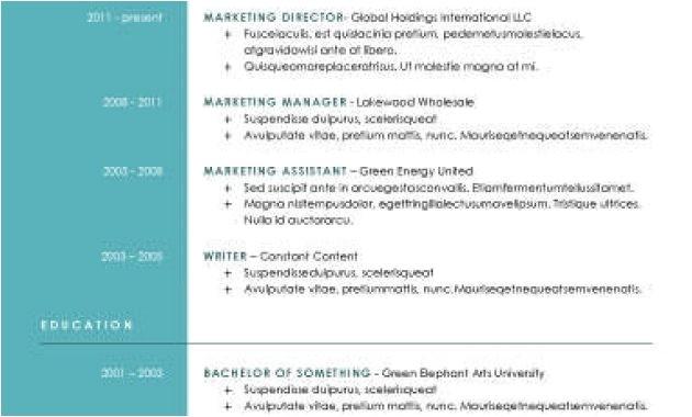 hloom resume modern