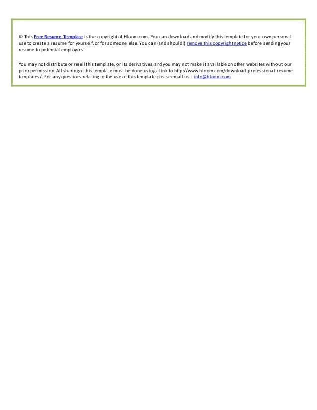 Hloom Download Professional Resume Templates Mẫu Cv Tiếng Anh Chuyen Nghiệp Va đẹp Nhất 8