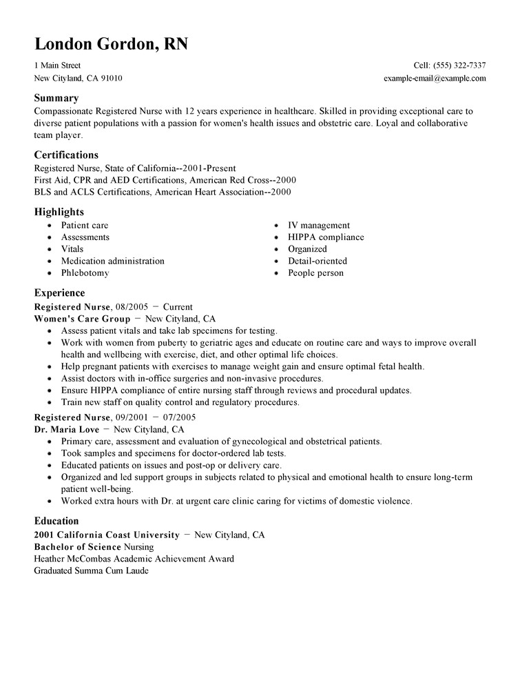 Home Care Nurse Resume Sample Free Resume Examples by Industry Job Title Livecareer
