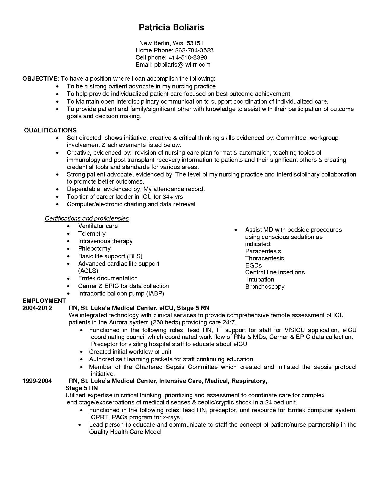 home health care nurse resume
