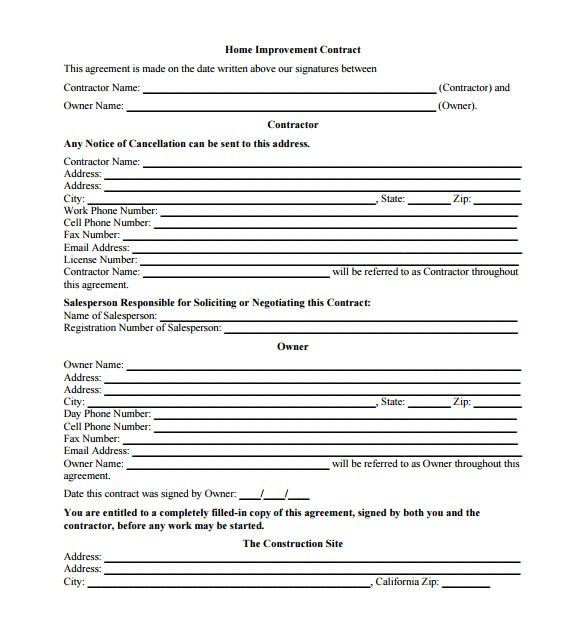 Home Remodeling Proposal Templates | williamson-ga.us