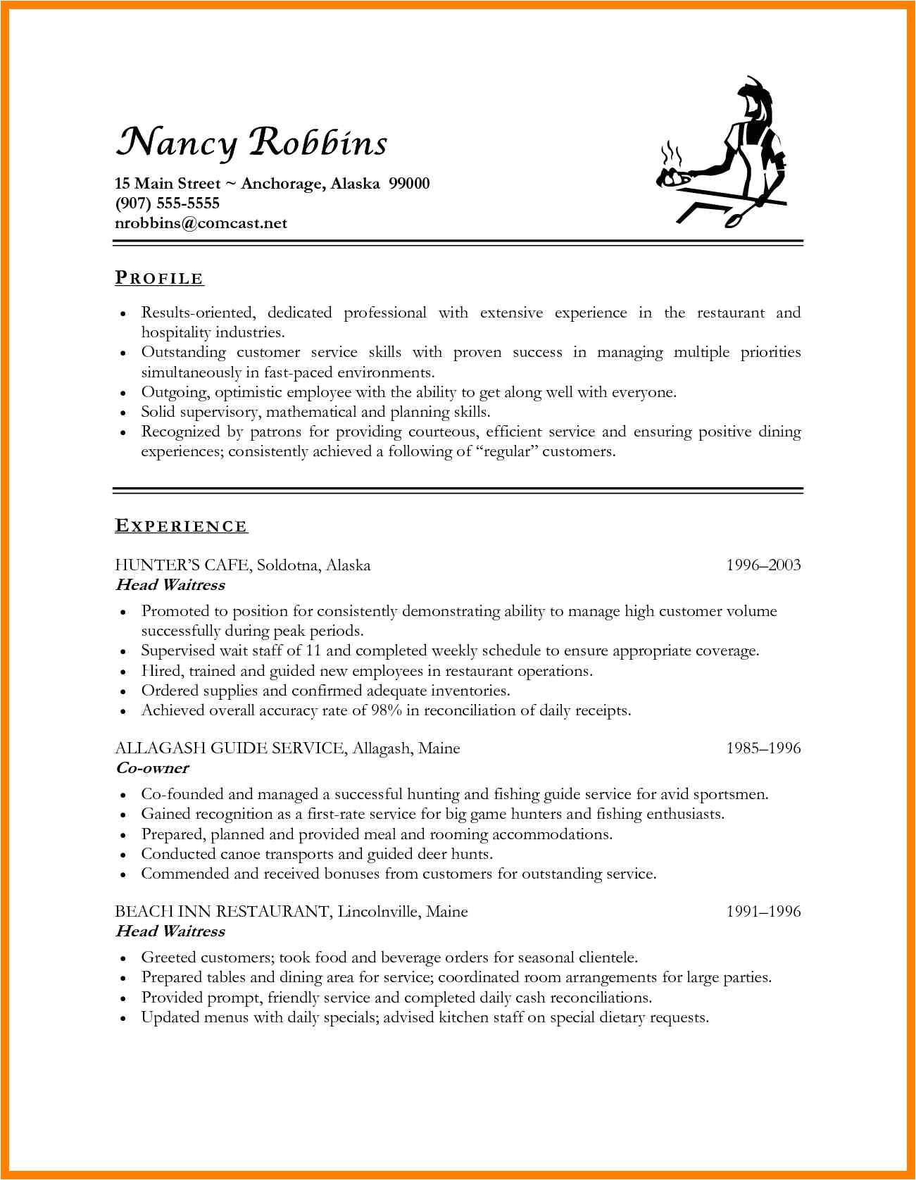 Hospitality Resume Templates Objectives for Resumes for Hospitality Industry Best