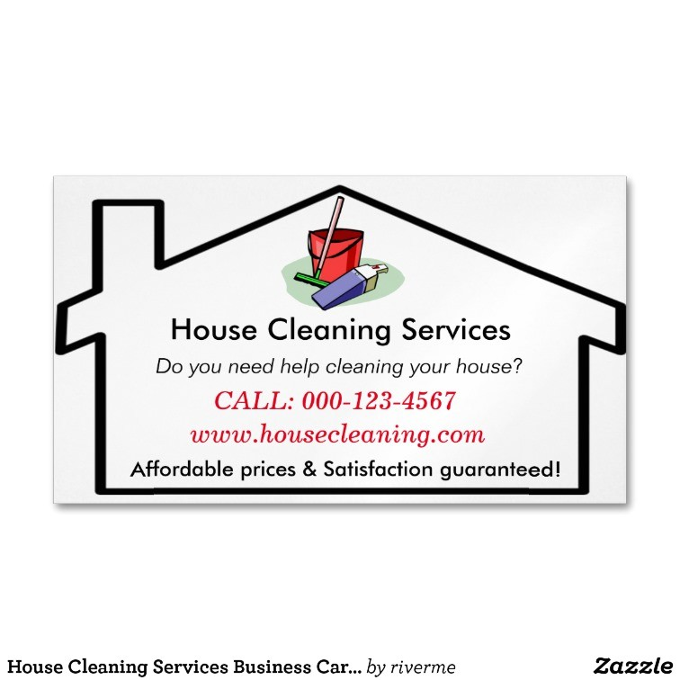 house cleaning services business card template 256243287472652514