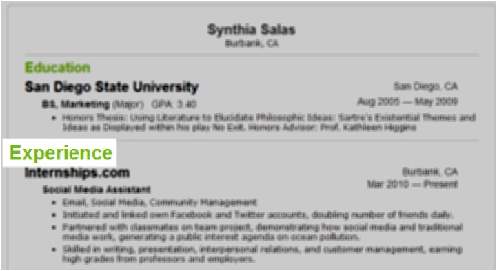 How to Add Internship Experience In Resume Sample How to Include Internship Experience On Your Resume Eye