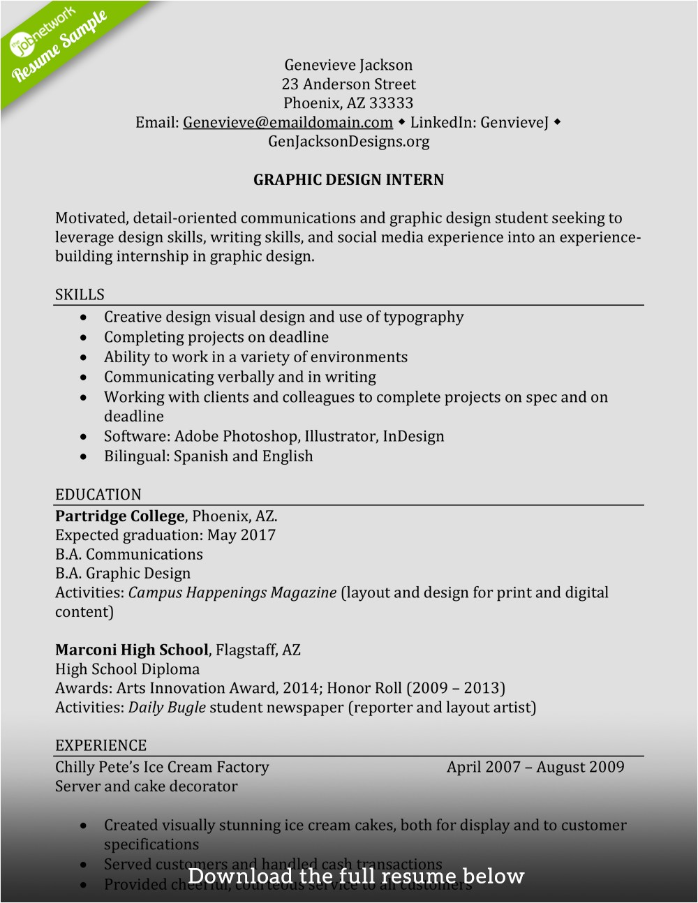 How to Add Internship Experience In Resume Sample How to Write A Perfect Internship Resume Examples Included