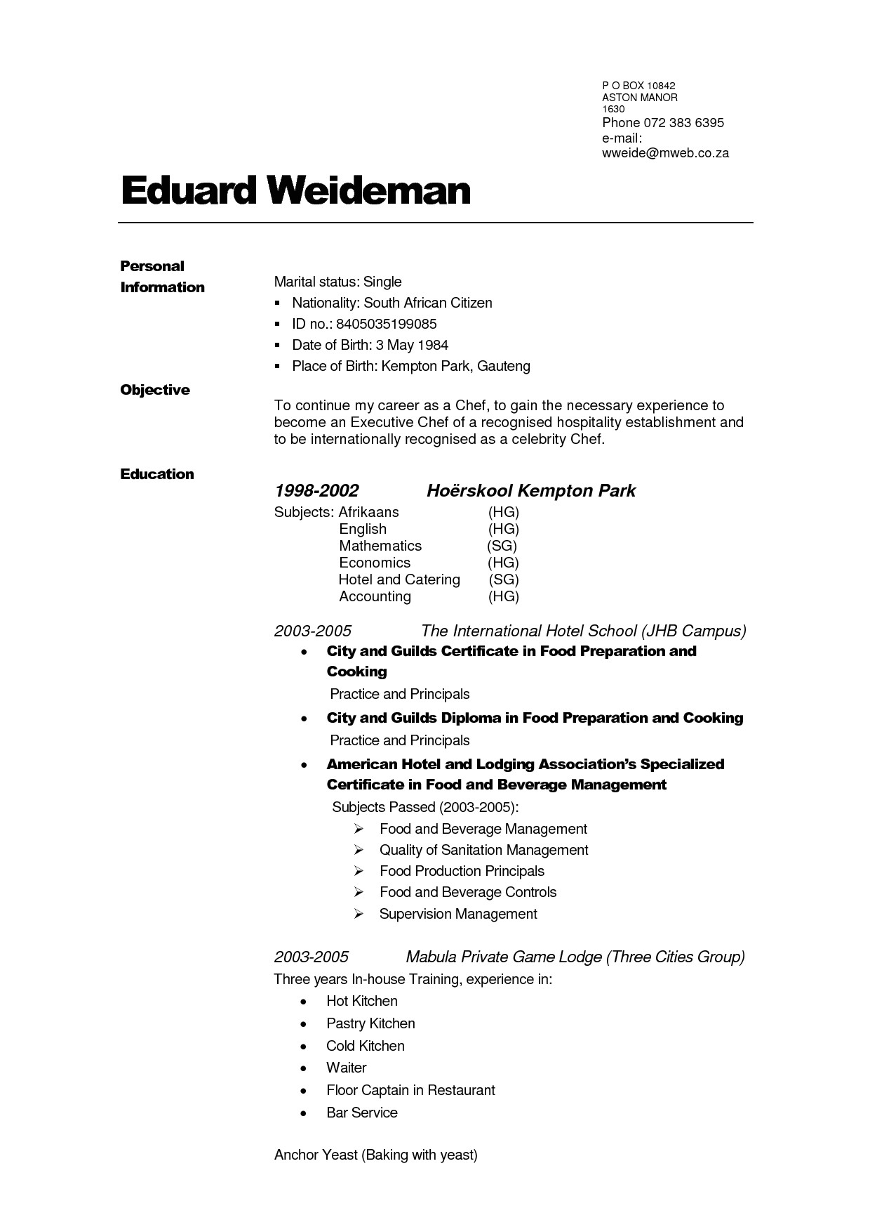 how to create your own resume template