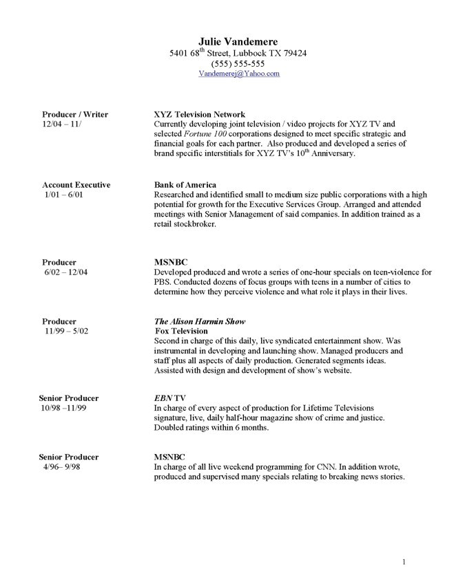 How to List Awards On Resume Sample Tv Producer Free Resume Samples Blue Sky Resumes