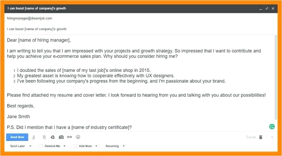 how to send resume through email to a hr