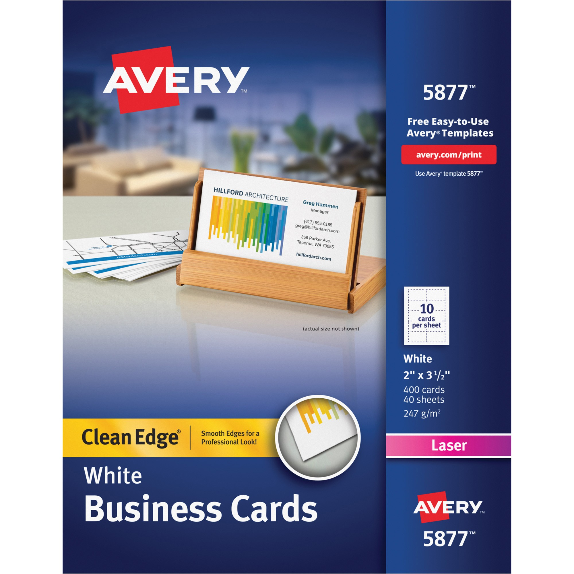 avery clean edge business card ave5877 pid 10474819