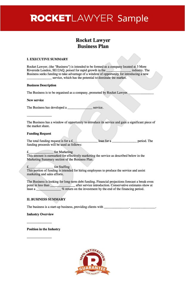 How to Write A Good Business Plan Template Business Plan Template Free How to Write A Business Plan