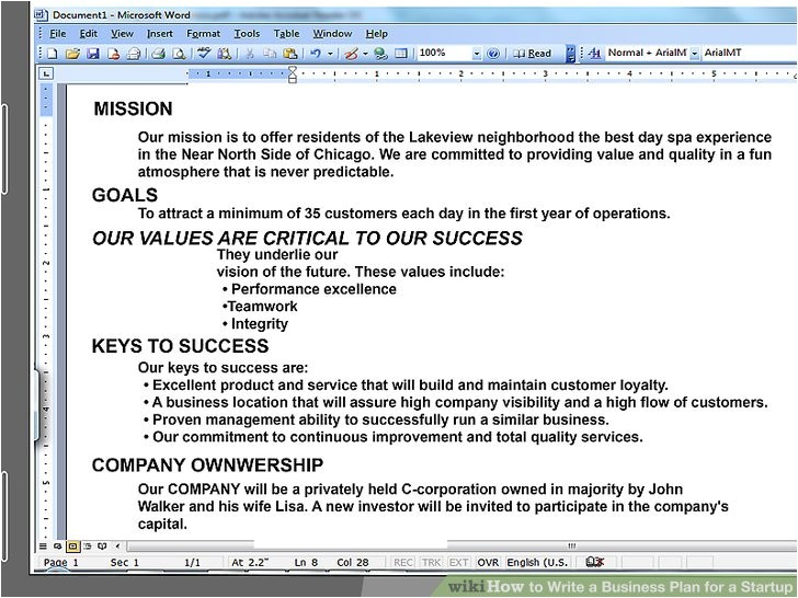 How to Write A Good Business Plan Template How to Write A Business Plan for A Start Up with Pictures