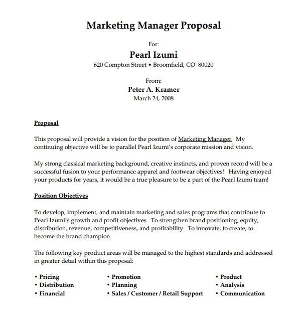 How to Write A Job Proposal Template 12 Sample Job Proposal Templates Sample Templates