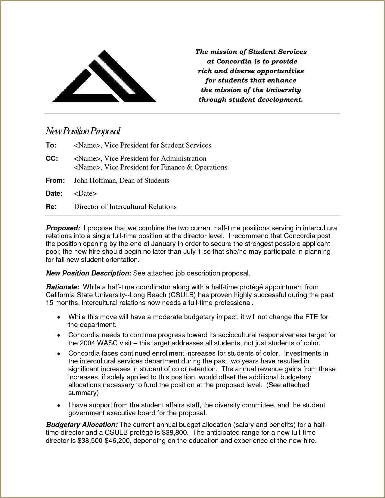 4 job proposal sample