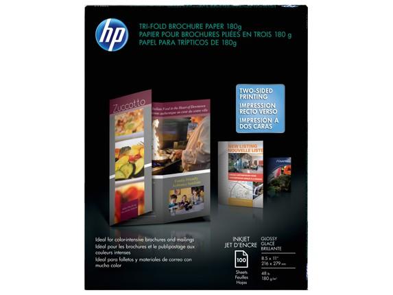 hp brochure template hp inkjet glossy tri fold brochure paper 180 gsm 100 shtletter