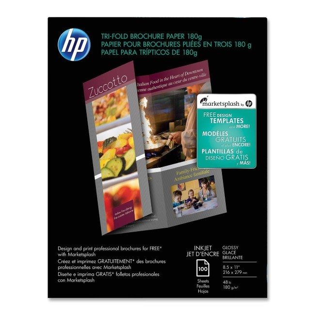 hp tri fold brochure paper bright white