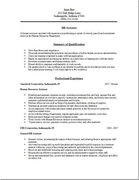 Hr assistant Resume Objective Samples Resume Samples Human Resources assistant Paid for Writing