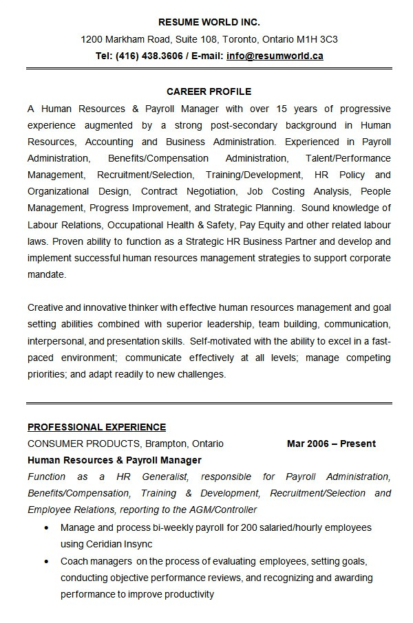 Human Resources Business Partner Resume Templates 21 Hr Resume Templates Doc Free Premium Templates