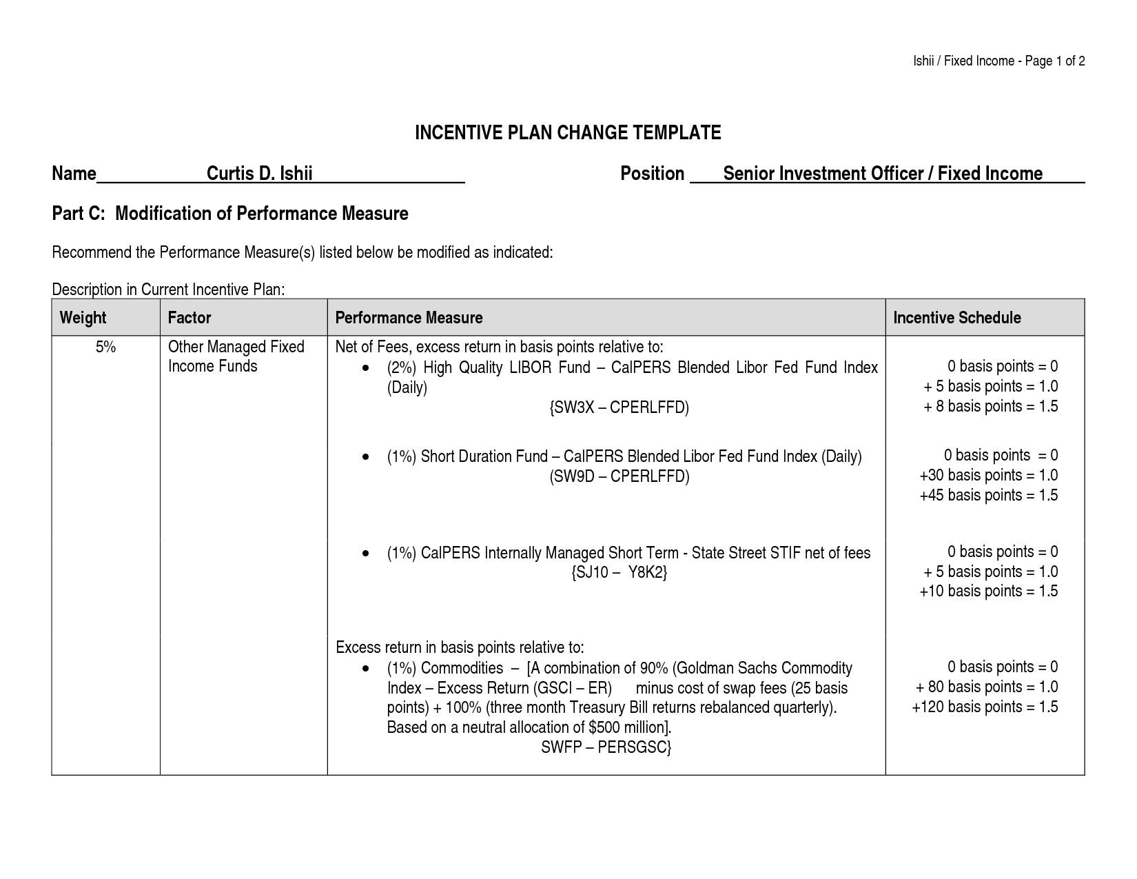 post employee incentive program template 356463