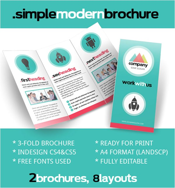 brochure indesign template free