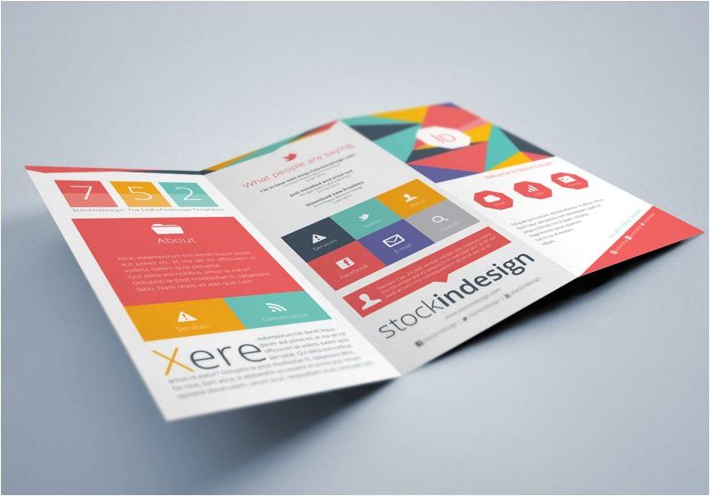 free indesign brochure templates flat trifold brochure stockindesign download