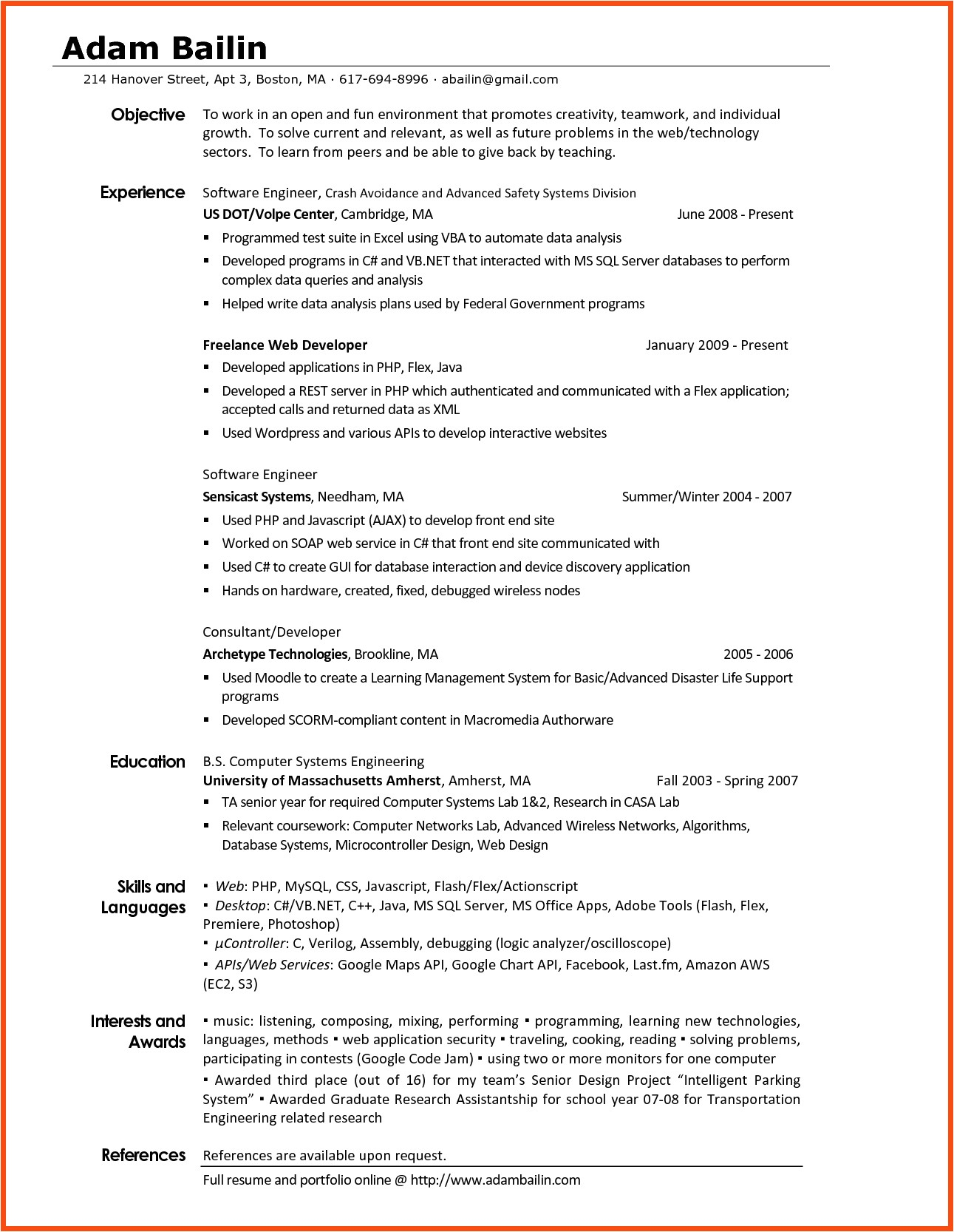 Interest and Hobbies for Resume Samples Interest and Hobbies for Resume Examples Examples Of Resumes
