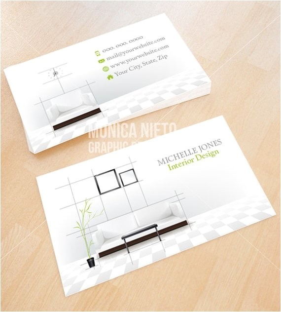 Interior Design Business Cards Templates Free Custom Printable Interior Design Business Card Template