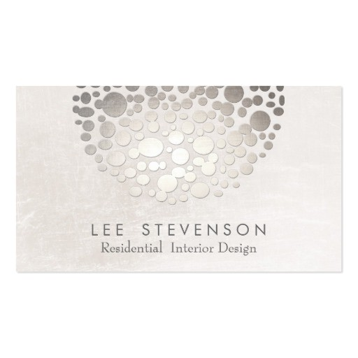 Interior Design Business Cards Templates Free Modern Stylish Interior Designer Silver and Gray Double