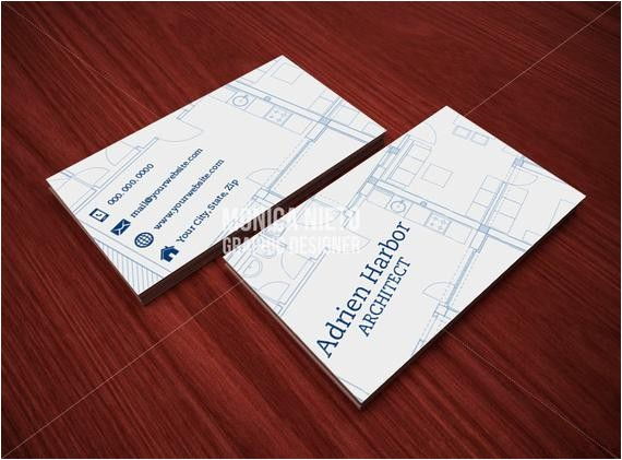 printable architect business card template